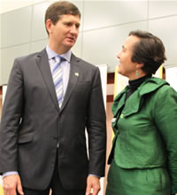 Lawrence Springborg and Jane Milburn