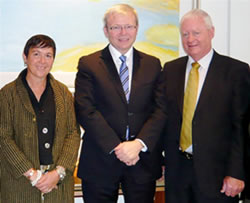 Jane Milburn, Kevin Rudd PM, Peter Kenny